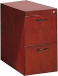 Corsica Desk File File Pedestal - Sierra Cherry on Cherry Veneer [CFFDCRY-FS-MAY]