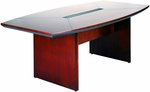Corsica 6'L x 36'' W x 29.5'' H Boat Shaped Conference Table - Sierra Cherry Finish on Cherry Veneer [CTC72CRY-FS-MAY]