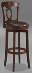 Corsica 31'' Bar Height Stool with Brown Vinyl Swivel Seat - Brown [4166-832-FS-HILL]