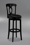 Corsica 25'' Counter Height Stool with Black Vinyl Swivel Seat - Black [4168-828-FS-HILL]