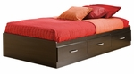 Cosmos Collection Twin Bed in Black [3127080-FS-SS]