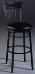 Cottage Metal 30'' Bar Height Stool with Black Vinyl Swivel Seat - Rubbed Black [4366-830-FS-HILL]