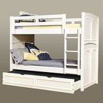 Cottage Traditions 3/3 Bunk Bed in Eggshell [6510-33BNKT-FS-AWC]