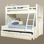 Cottage Traditions 3/3 over 4/6 Bunk Bed in Eggshell [6510-TFBNK-FS-AWC]