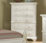 Cottage Traditions 5-Drawer Chest Eggshell [6510-150-FS-AWC]
