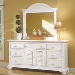 Cottage Traditions Triple Dresser in Eggshell [6510-272-FS-AWC]