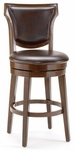 Country Wood 26'' Counter Height Stool with Brown Faux Leather Swivel Seat - Rustic Cherry [4627-826-FS-HILL]