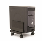 Mobile CPU Cart with 160 lb Capacity with 2 Locking Casters [CPUCART-1-FS-ESI]