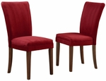Cranberry Red Microfiber Dining Parson Chair-Set Of 2 [721RDS-2PC-FS-HOM]