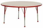 Creative Colors Adjustable Height Round Activity Table with Laminate Top - 36'' Diameter x 21''H - 30''H [36RN-MHR]