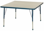 Creative Colors Adjustable Height Square Activity Table with Laminate Top - 36''W x 36''D x 21''H - 30''H [36SQ-MHR]