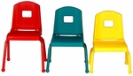 Creative Colors Stacking Split Bucket Chair with 10''H Seat - 16.75''W x 12.5''D x 22''H [10CHR-MHR]