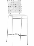 Criss Cross Counter Stool in White [333061-FS-ZUO]