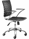 Criss Cross Mid-Back Chair in Black [205030-FS-ZUO]