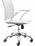 Criss Cross Mid-Back Chair in White [205031-FS-ZUO]