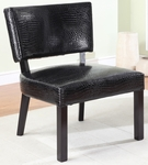 Crocodile Print Accent Chair [383-630-FS-PO]