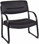 Crusoe 35''H Big and Tall Steel Frame Side Chair - Black Leather [1106BK-FS-REG]