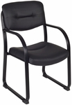 Crusoe 34''H Steel Frame Guest Chair - Black Vinyl [1006BK-FS-REG]