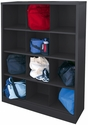 Cubby Storage Organizer 12 Sections 46''W x 18''D x 66''H - Black