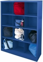 Cubby Storage Organizer 12 Sections 46''W x 18''D x 66''H - Blue