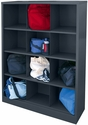 Cubby Storage Organizer 12 Sections 46''W x 18''D x 66''H - Charcoal