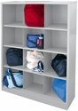 Cubby Storage Organizer 12 Sections 46''W x 18''D x 66''H - Dove Gray