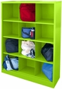 Cubby Storage Organizer 12 Sections 46''W x 18''D x 66''H - Electric Green