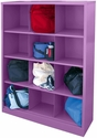 Cubby Storage Organizer 12 Sections 46''W x 18''D x 66''H - Grape Juice