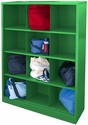 Cubby Storage Organizer 12 Sections 46''W x 18''D x 66''H - Green