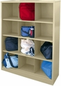 Cubby Storage Organizer 12 Sections 46''W x 18''D x 66''H - Putty
