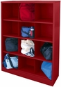 Cubby Storage Organizer 12 Sections 46''W x 18''D x 66''H - Red
