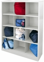 Cubby Storage Organizer 12 Sections 46''W x 18''D x 66''H - White