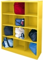 Cubby Storage Organizer 12 Sections 46''W x 18''D x 66''H - Yellow