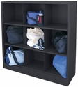 Cubby Storage Organizer 9 Sections 46''W x 18''D x 52''H - Black