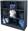 Cubby Storage Organizer 9 Sections 46''W x 18''D x 52''H - Charcoal