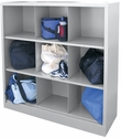 Cubby Storage Organizer 9 Sections 46''W x 18''D x 52''H - Dove Gray