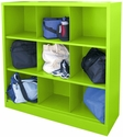 Cubby Storage Organizer 9 Sections 46''W x 18''D x 52''H - Electric Green
