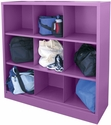 Cubby Storage Organizer 9 Sections 46''W x 18''D x 52''H - Grape Juice