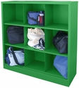 Cubby Storage Organizer 9 Sections 46''W x 18''D x 52''H - Green