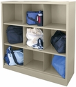 Cubby Storage Organizer 9 Sections 46''W x 18''D x 52''H - Putty