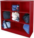 Cubby Storage Organizer 9 Sections 46''W x 18''D x 52''H - Red