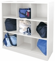 Cubby Storage Organizer 9 Sections 46''W x 18''D x 52''H - White