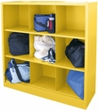 Cubby Storage Organizer 9 Sections 46''W x 18''D x 52''H - Yellow