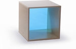 Birch Laminate Cube Storage with Thick Acrylic Blue Back [WB0905B-FS-WBR]