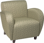 OSP Furniture Custom Fabric Club Chair with Curved Arms - Cherry [SF2471-FS-OS]