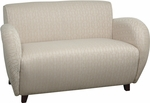 OSP Furniture Custom Fabric Love Seat with Curved Arms - Cherry [SF2472-FS-OS]