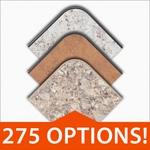 Customizable High Pressure Decorative Round,Square and Rectangular Laminate Tops (275 Color Choices) [BFDH-CUSTOM-TMOLD-TDR]