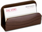 Classic Leather Business Card Holder - Chocolate Brown [A3407-FS-DAC]