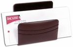 Classic Leather Letter Holder - Chocolate Brown [A3408-FS-DAC]