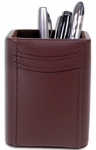 Classic Leather Pencil Cup - Chocolate Brown [A3410-FS-DAC]